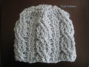 croche cable beanie