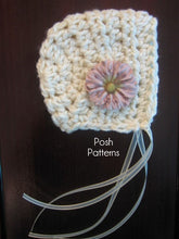 Load image into Gallery viewer, bonnet crochet pattern