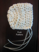 Load image into Gallery viewer, crochet bonnet pattern