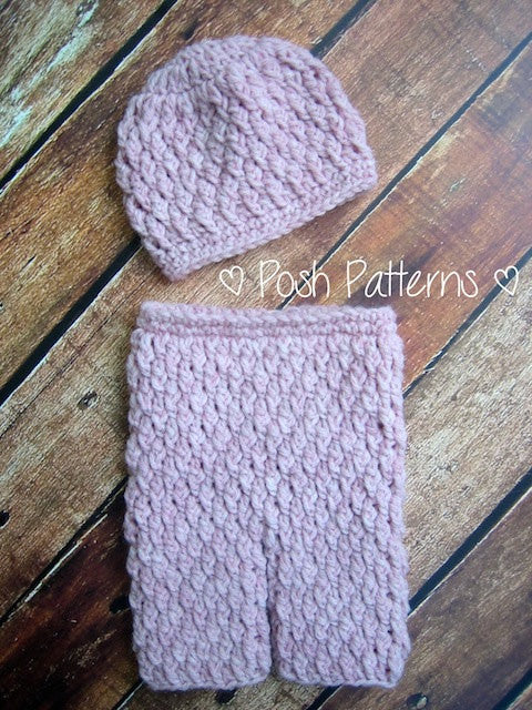 crochet baby pants and hat