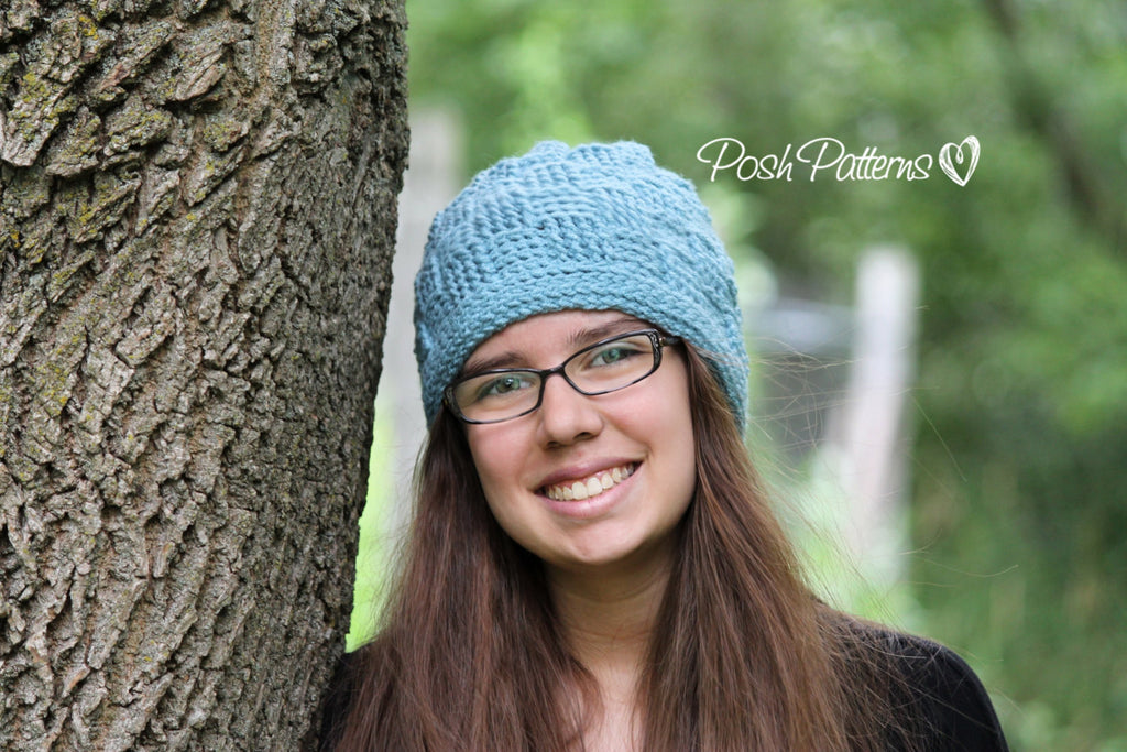 Crochet Pattern Crochet Basket Weave Hat Pattern