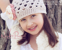 Load image into Gallery viewer, shell crochet hat pattern