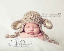 Load image into Gallery viewer, crochet lamb hat pattern