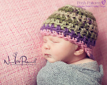 Load image into Gallery viewer, visor beanie crochet pattern