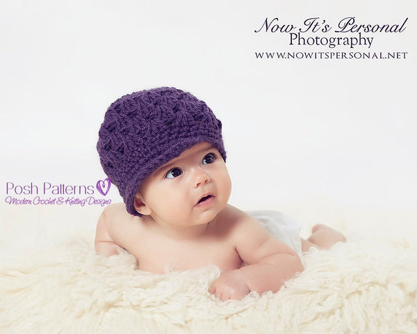 baby newsboy hat crochet pattern