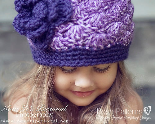 croche shell stitch hat pattern