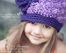 Load image into Gallery viewer, girls crochet hat pattern