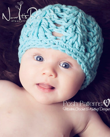 chunky lace hat crochet pattern