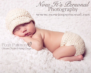 newsboy hat diaper cover crochet pattern