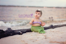 Load image into Gallery viewer, mermaid blanket crochet pattern