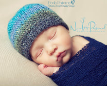 Load image into Gallery viewer, crochet pattern easy beanie