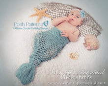 Load image into Gallery viewer, mermaid tail crochet pattern