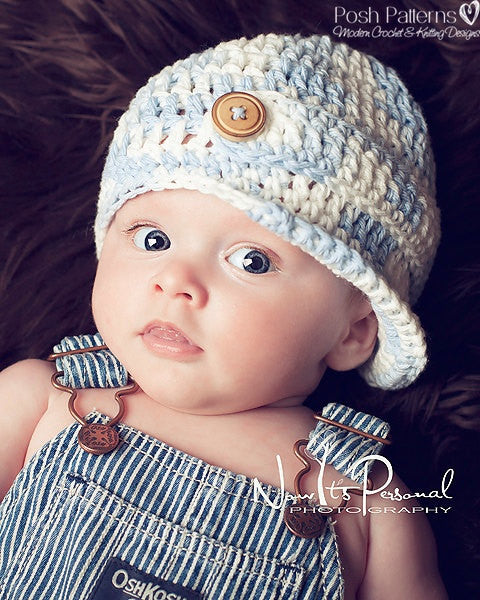 baby boy hat crochet pattern