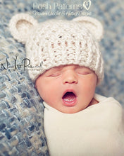Load image into Gallery viewer, baby bear hat crochet pattern