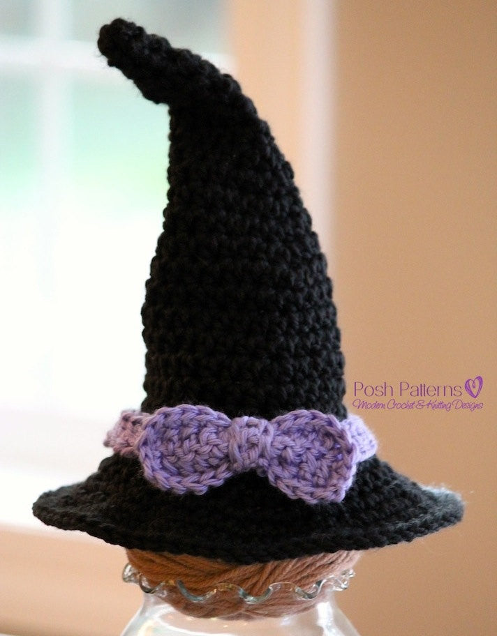 Crochet Pattern Newborn Baby Witch Hat Crochet Pattern