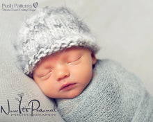 Load image into Gallery viewer, easy baby hat knitting pattern