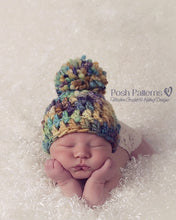 Load image into Gallery viewer, pom pom hat crochet pattern