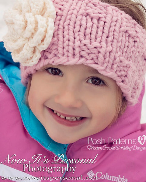 kids knit headband pattern