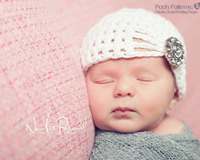 Load image into Gallery viewer, baby hat crochet pattern