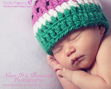 Load image into Gallery viewer, watermelon hat crochet pattern