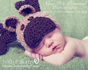 baby moose hat pattern