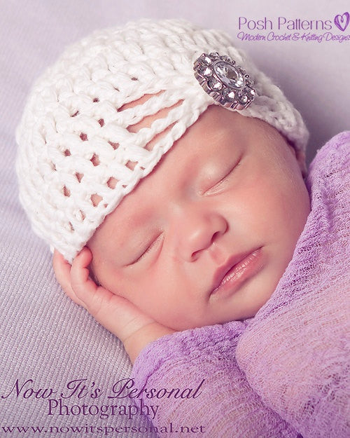 fancy beanie crochet pattern