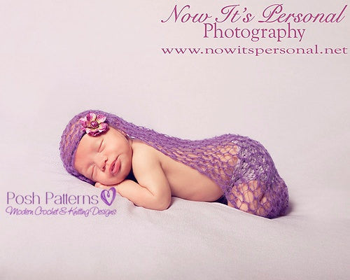 lace baby wrap photo prop