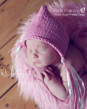 Load image into Gallery viewer, baby bonnet knitting pattern