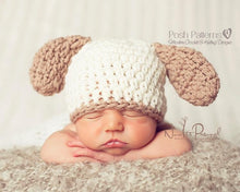 Load image into Gallery viewer, puppy hat crochet pattern