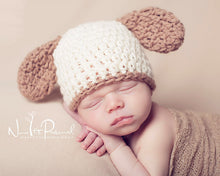 Load image into Gallery viewer, crochet puppy hat pattern