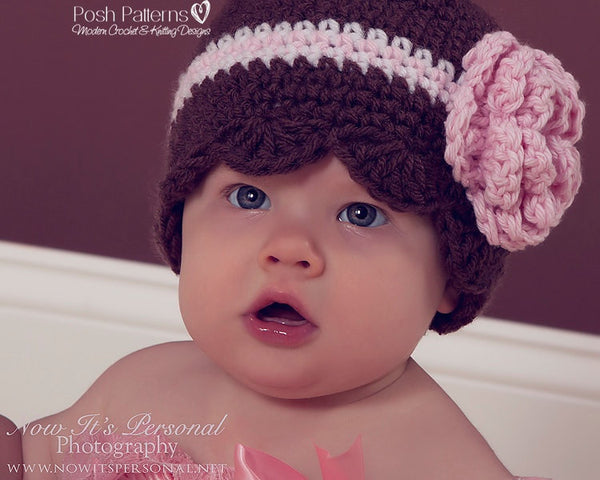 petal edge crochet hat pattern