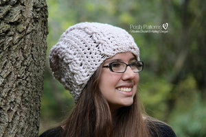 cable hat crochet pattern