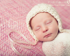 easy bonnet crochet pattern
