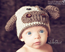 Load image into Gallery viewer, crochet cow hat