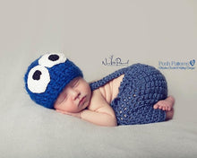Load image into Gallery viewer, baby monster beanie pattern