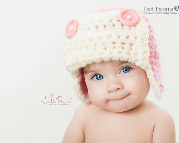 baby crochet aviator hat pattern
