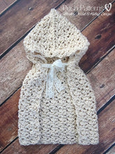 Load image into Gallery viewer, crochet baby cape pattern