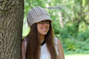 crochet pattern newsboy hat