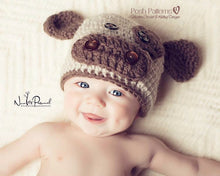 Load image into Gallery viewer, baby cow hat crochet pattern