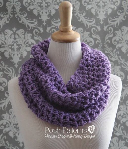 Crochet Patterns Crochet Infinity Scarf Pattern
