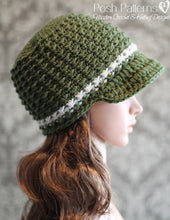 Load image into Gallery viewer, ladies newsboy hat pattern