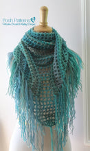 Load image into Gallery viewer, triangle scarf crochet pattern