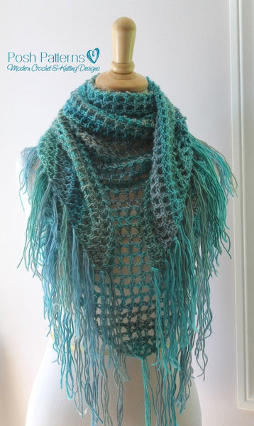 triangle scarf crochet pattern