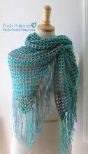 Load image into Gallery viewer, crochet shawl pattern