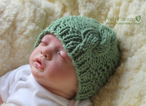 baby cable hat knitting pattern