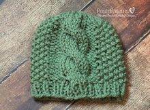 Load image into Gallery viewer, cable hat knitting pattern
