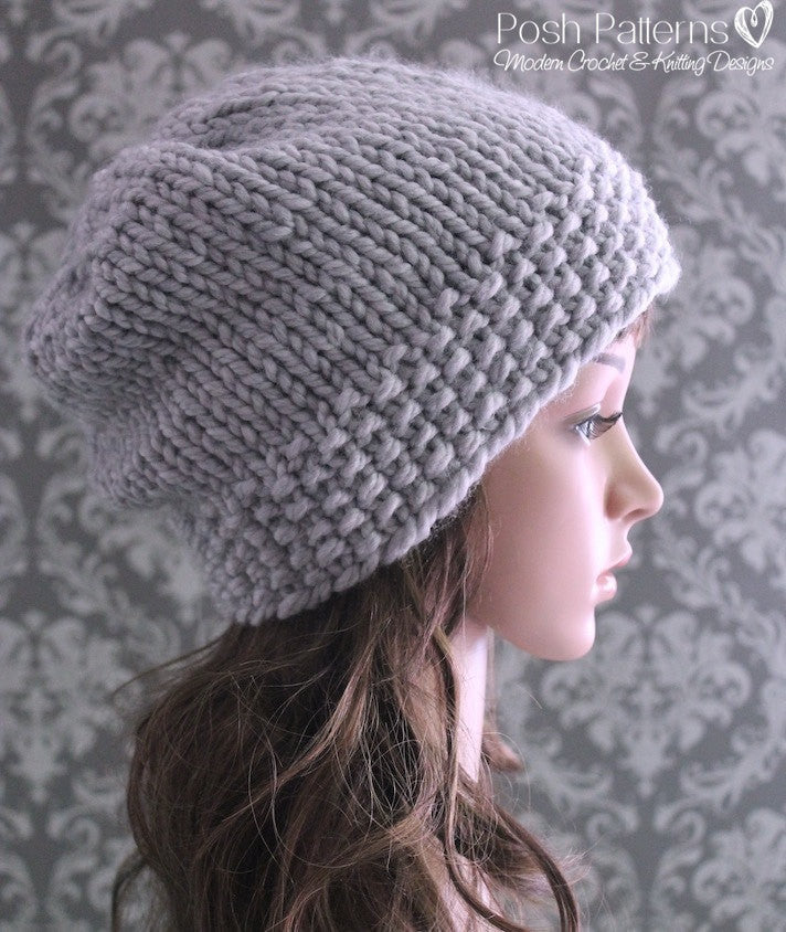chunky hat knitting pattern