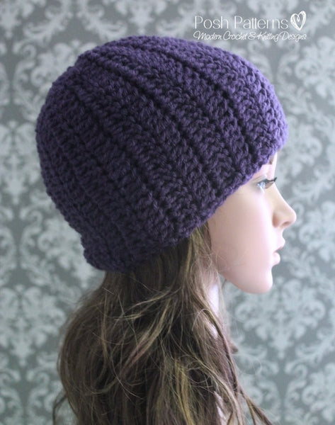Crochet Pattern Beginner Crochet Slouchy Hat Pattern