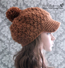 Load image into Gallery viewer, girls newsboy hat pattern