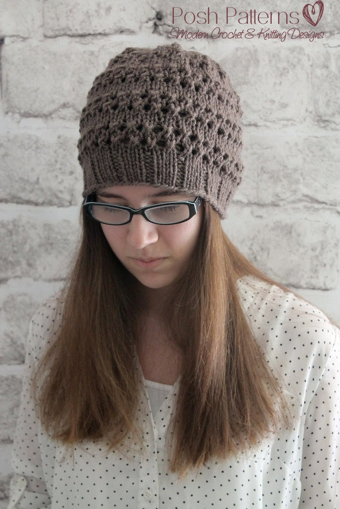 Knitted Beanie Pattern Images Knitting Patterns Free Download